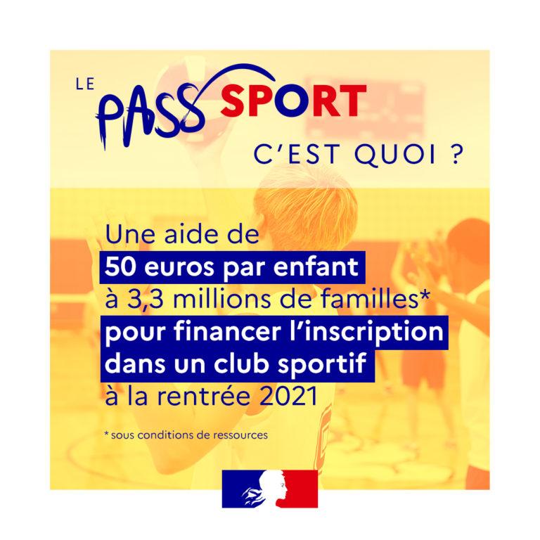 Pass Sport – une aide aux familles pour la rentrée sportive – MàJ 01/09